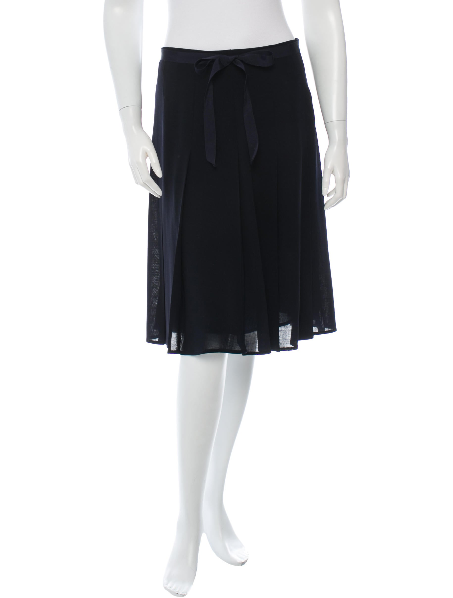 piazza sempione pleated wool skirt clothing pia23625