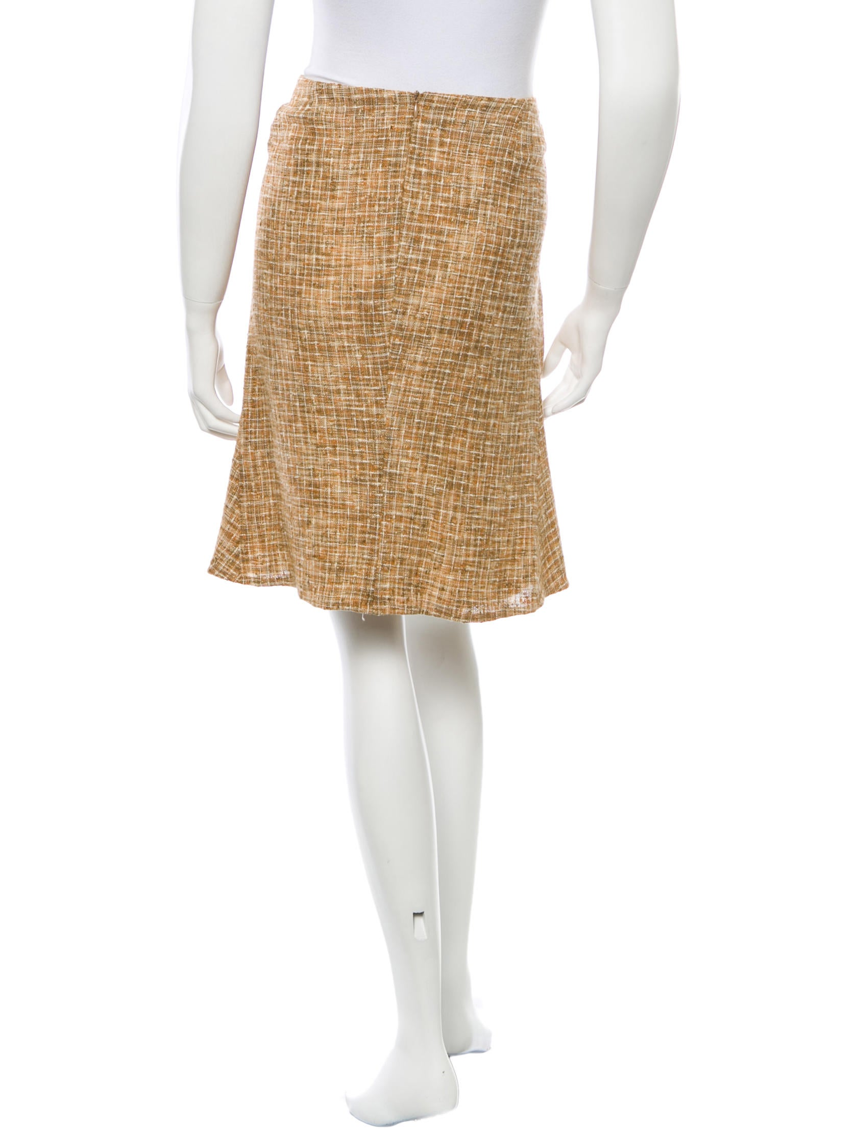 piazza sempione tweed a line skirt clothing pia24091
