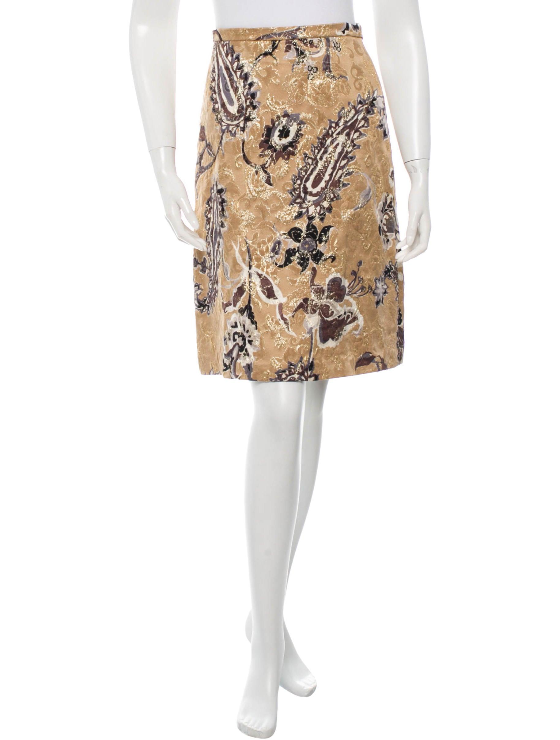 piazza sempione metallic a line skirt clothing