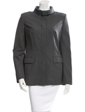 Piazza Sempione Fitted Wool Jacket None