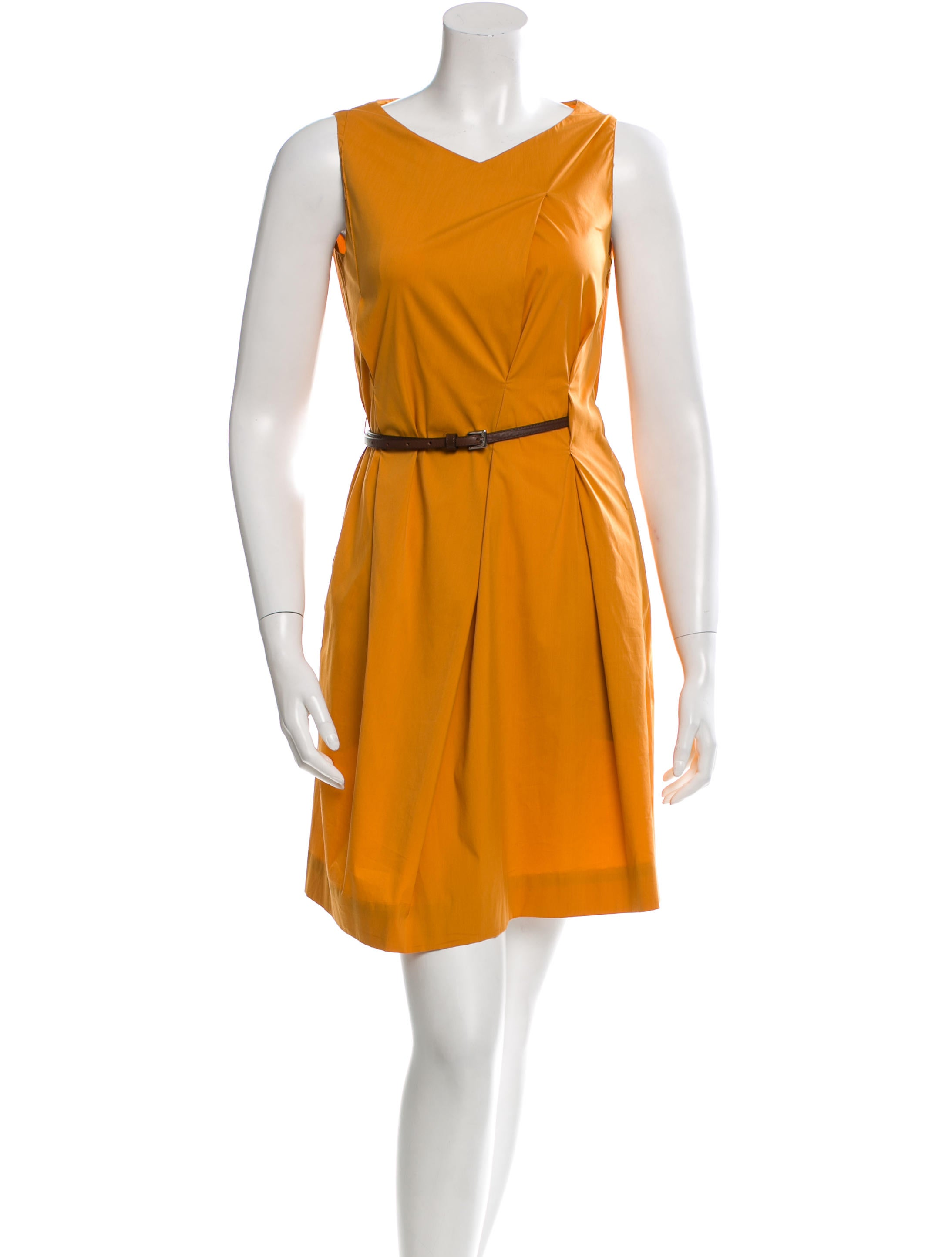 piazza sempione sleeveless belted dress clothing