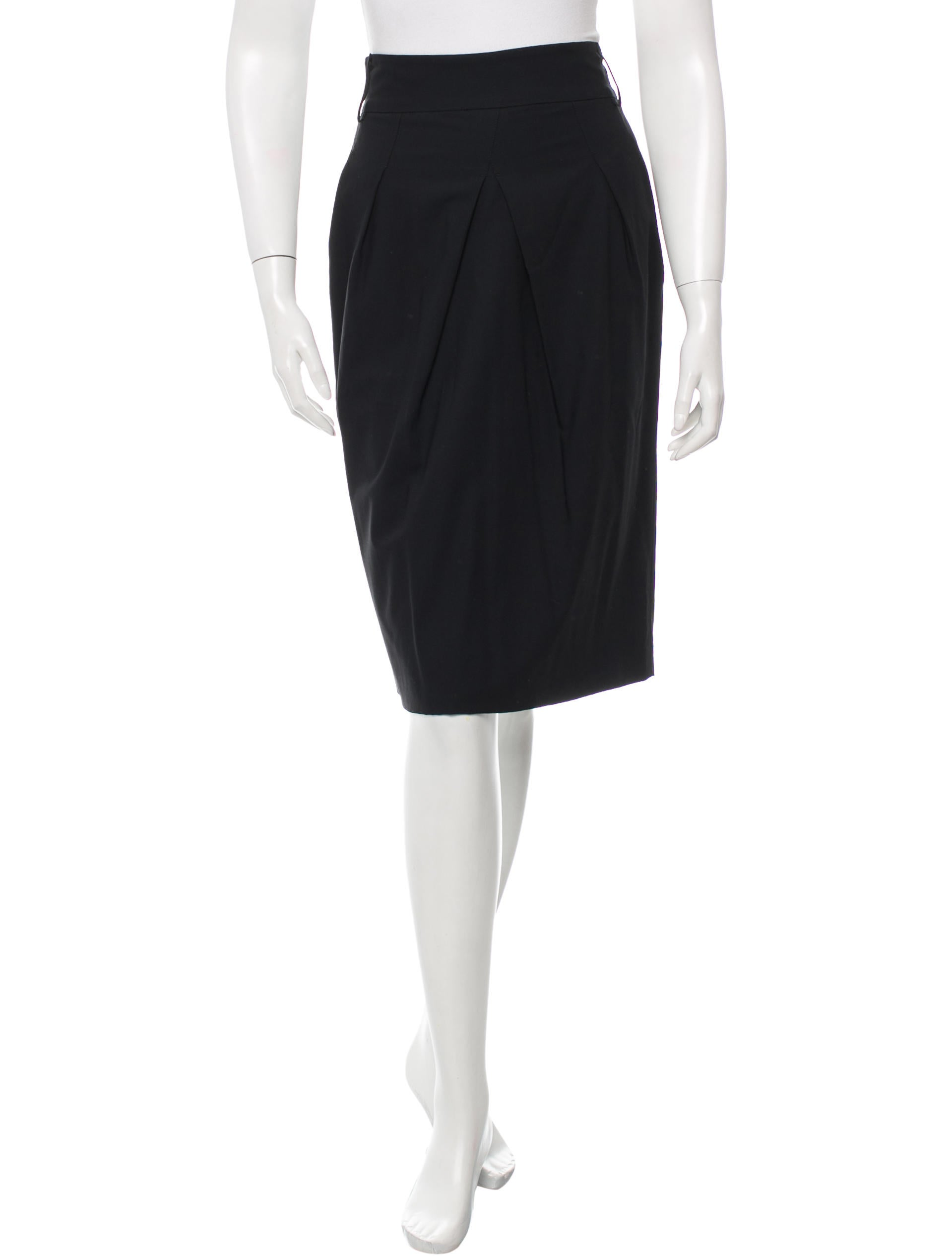 piazza sempione pleated pencil skirt clothing pia25519