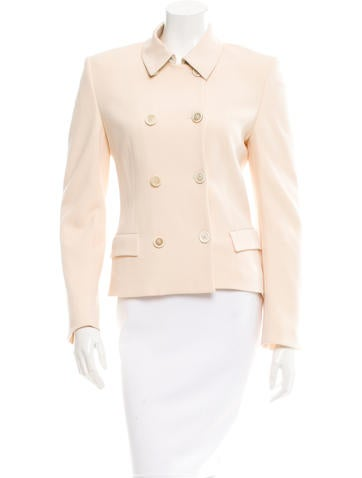 Piazza Sempione Wool Double-Breasted Jacket None