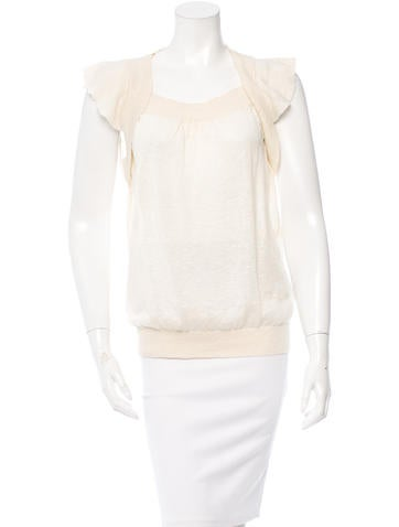 Piazza Sempione Cap-Sleeve Pullover Knit None