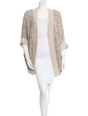 Piazza Sempione Knit Short Sleeve Cardigan None