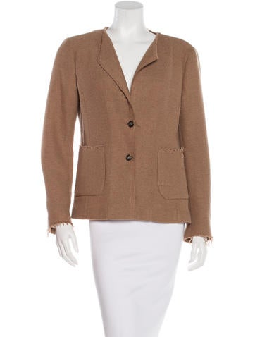 Piazza Sempione Single-Breasted Wool Jacket None
