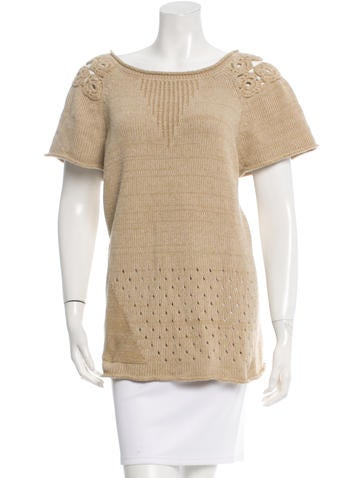 Piazza Sempione Embellished Knit Top None