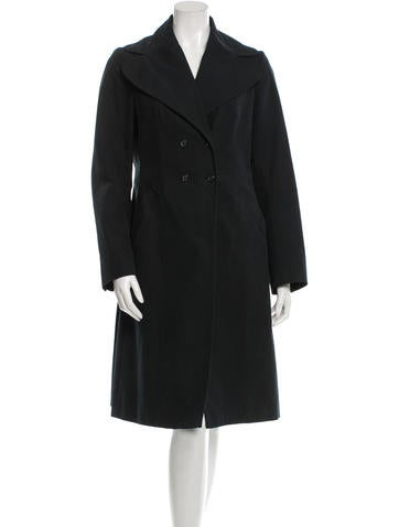 Piazza Sempione Double-Breasted Long Coat