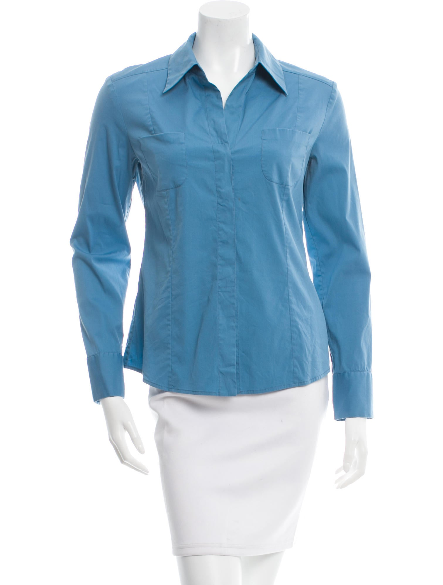 Piazza Sempione Fitted Button Up Top Clothing Pia26067