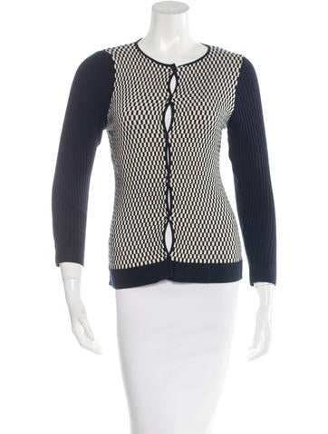 Piazza Sempione Patterned Rib Knit Cardigan None