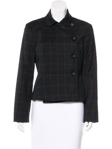 Piazza Sempione Virgin Wool Plaid Jacket None