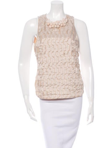 Piazza Sempione Embellished Sleeveless Top None
