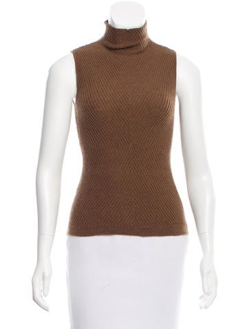 Piazza Sempione Wool Mock Neck Top None