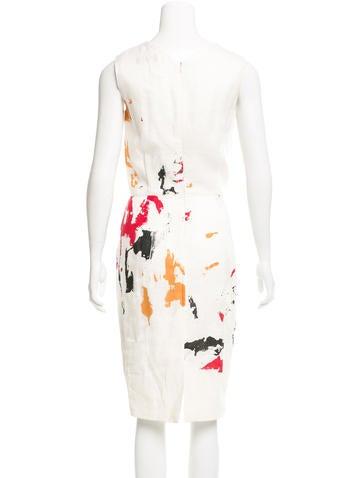 Linen Paint Splatter Dress
