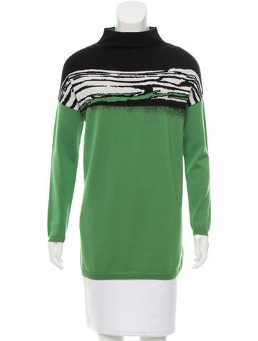 Piazza Sempione Wool Intarsia Sweater None