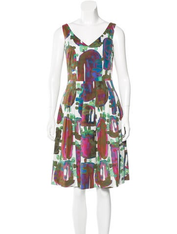 Piazza Sempione Printed A-Line Dress