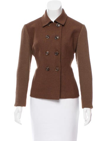 Piazza Sempione Wool-Blend Double-Breasted Jacket None
