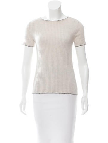 Piazza Sempione Wool Rib Knit Top None