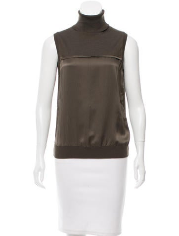 Piazza Sempione Silk Sleeveless Top None
