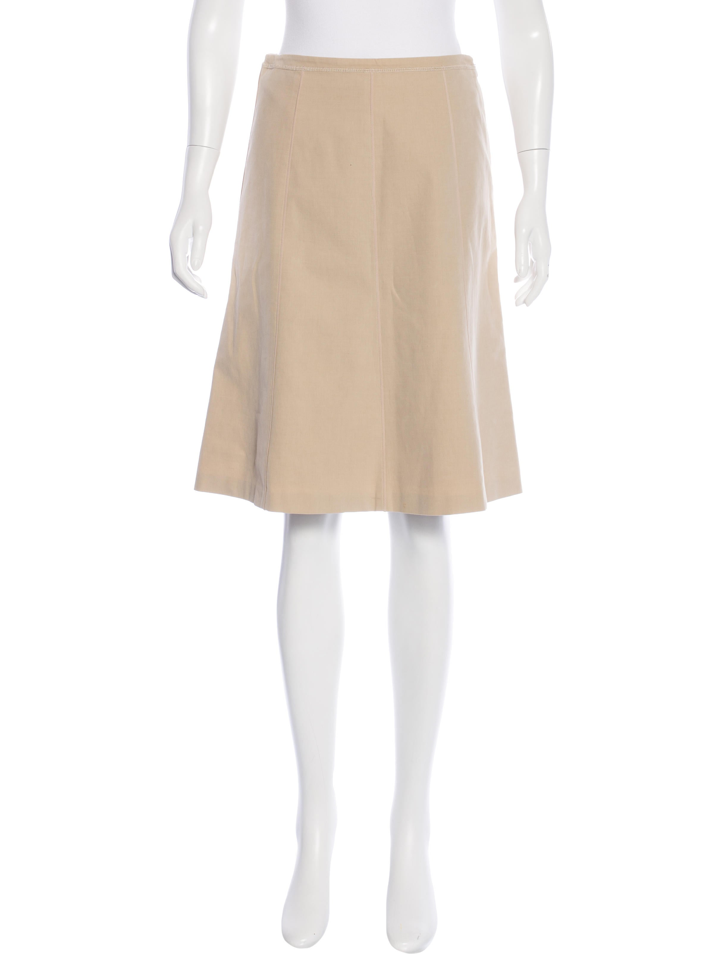 piazza sempione knee length a line skirt clothing