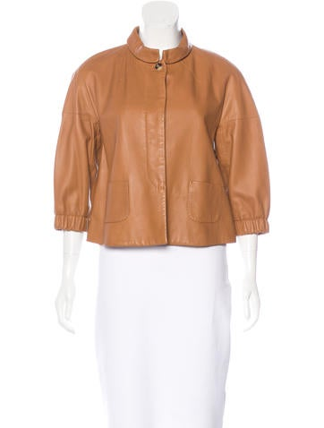 Piazza Sempione Short Leather Jacket