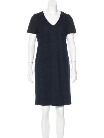 Piazza Sempione Open Knit Shift Dress None