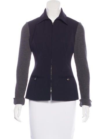 Piazza Sempione Wool Zip Jacket None