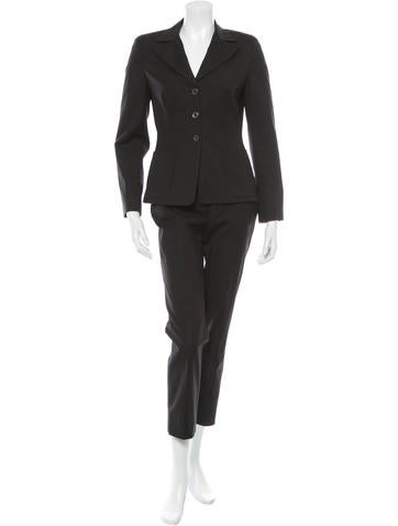 Piazza Sempione Notch Collar Fitted Pantsuit None