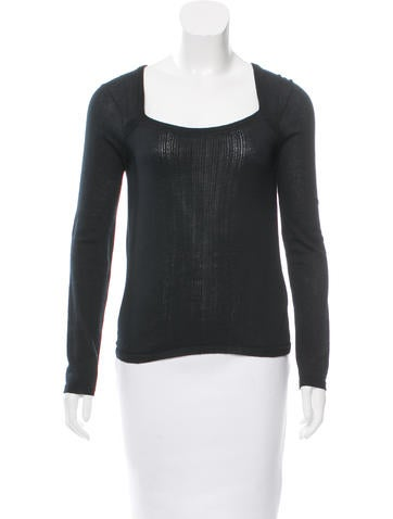 Piazza Sempione Wool Long Sleeve Top None