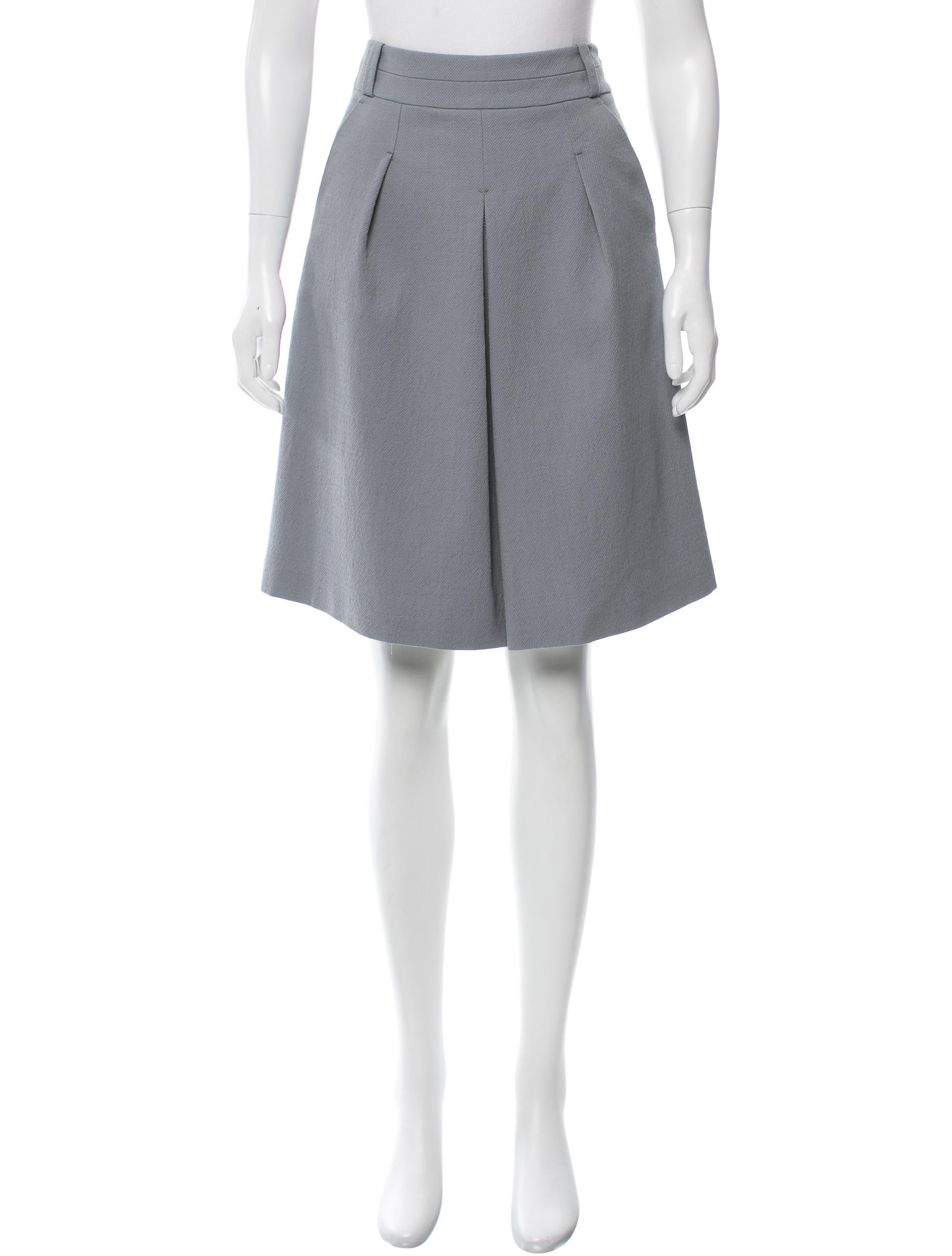 piazza sempione a line wool blend skirt clothing