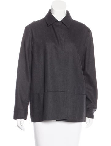 Piazza Sempione Long Sleeve Wool Jacket None