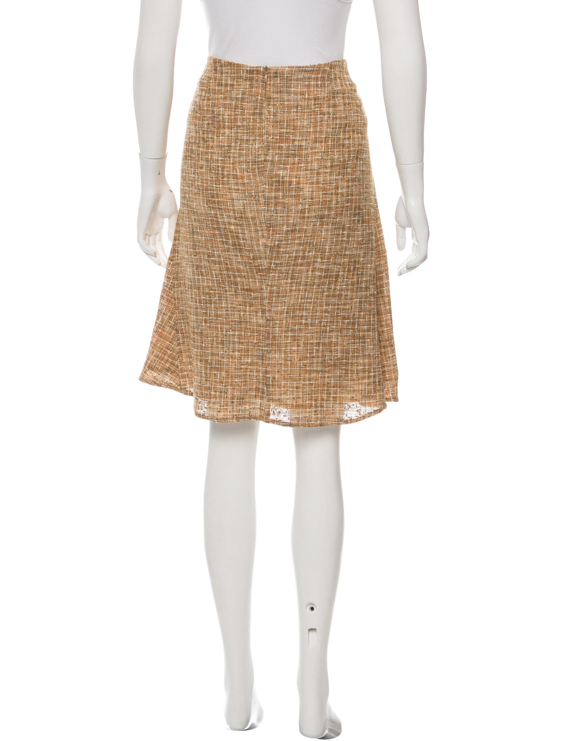 piazza sempione linen knee length skirt clothing
