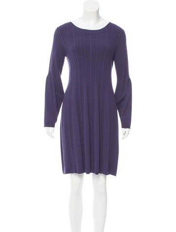 Piazza Sempione Rib Knit Sweater Dress None
