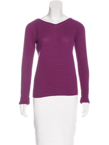 Piazza Sempione Textured Knit Sweater None