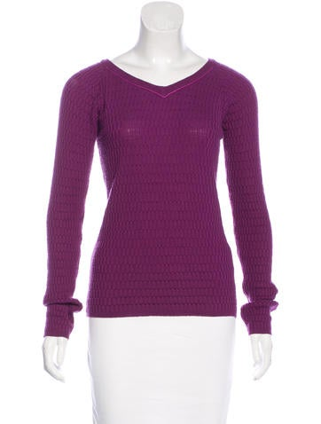 Piazza Sempione Virgin Wool V-Neck Sweater None