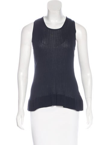 Piazza Sempione Sleeveless Rib Knit Top w/ Tags None