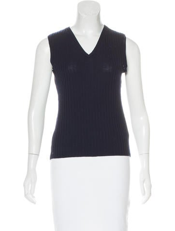 Piazza Sempione Sleeveless Rib Knit Top None