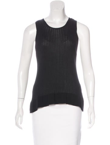 Piazza Sempione Rib Knit Sleeveless Top None