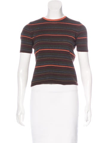 Piazza Sempione Wool Striped Top None