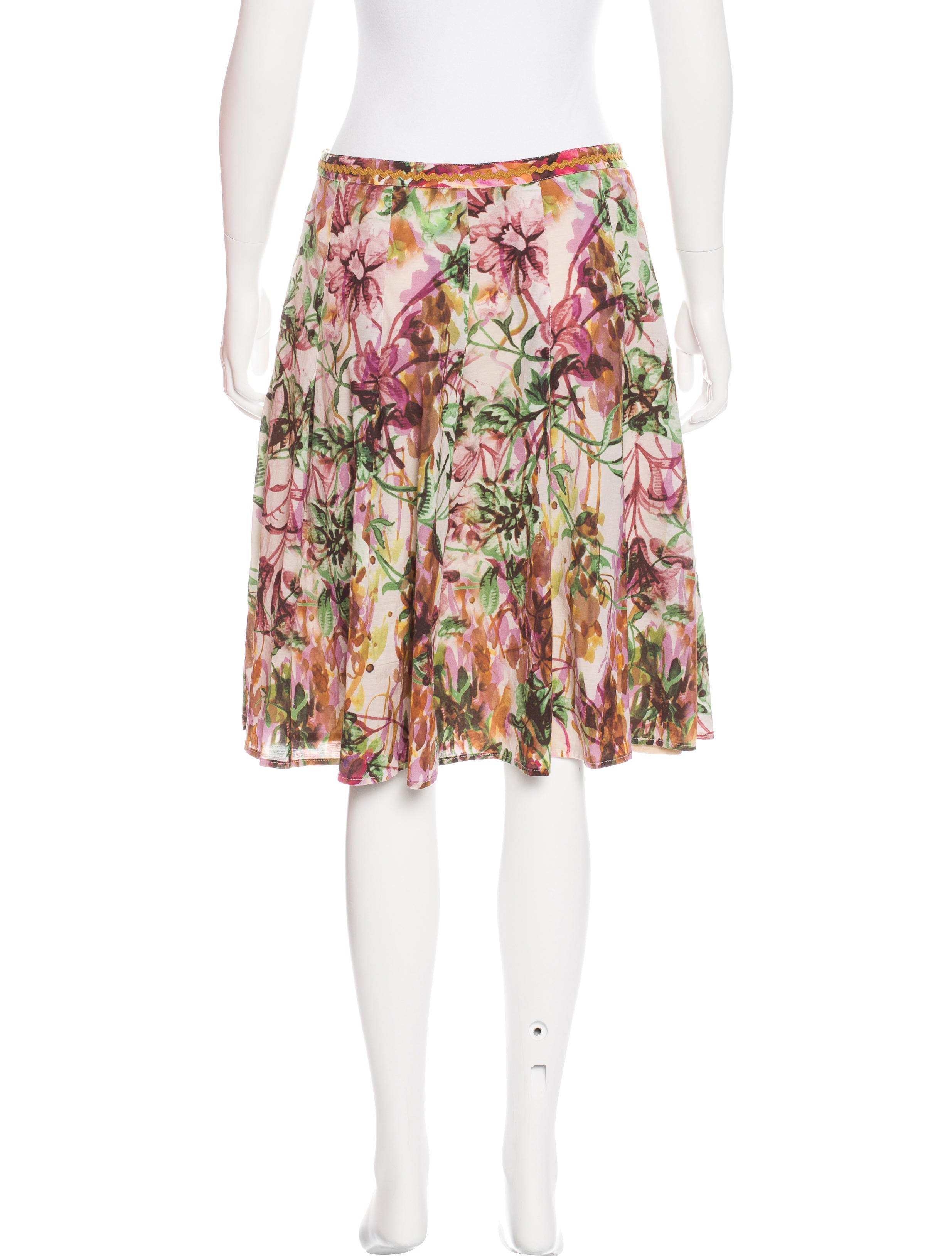 piazza sempione floral print pleated skirt clothing
