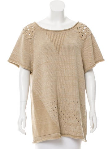 Piazza Sempione Short Sleeve Knit Top w/ Tags None