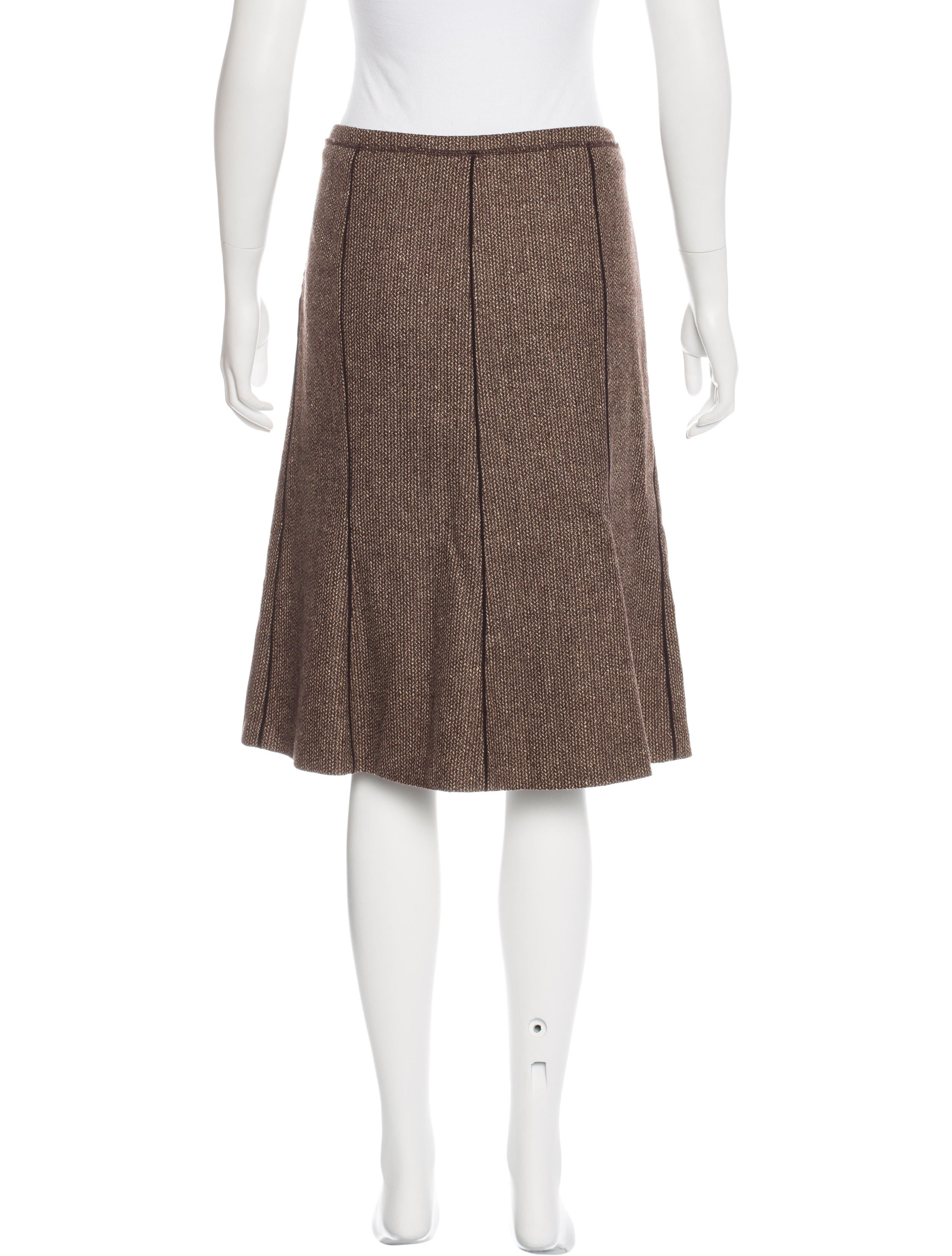 piazza sempione tweed a line skirt clothing pia28212