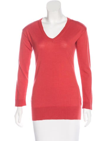 Piazza Sempione Long-Sleeve V-Neck Sweater None