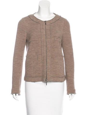 Piazza Sempione Wool Zip-Up Jacket None