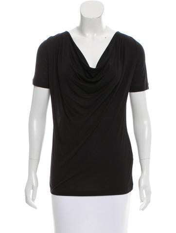 Piazza Sempione Draped Short Sleeve Top None