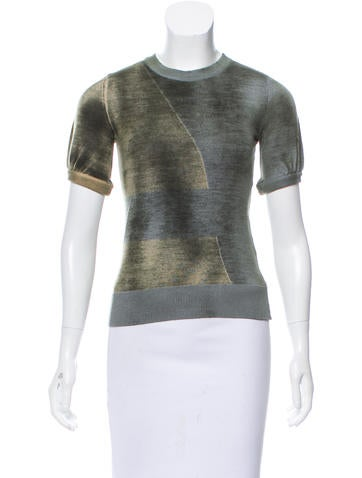 Piazza Sempione Short Sleeve Wool Top None