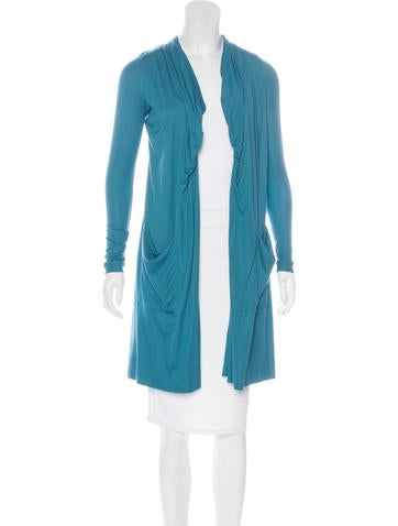 Piazza Sempione Ruched Knit Cardigan None