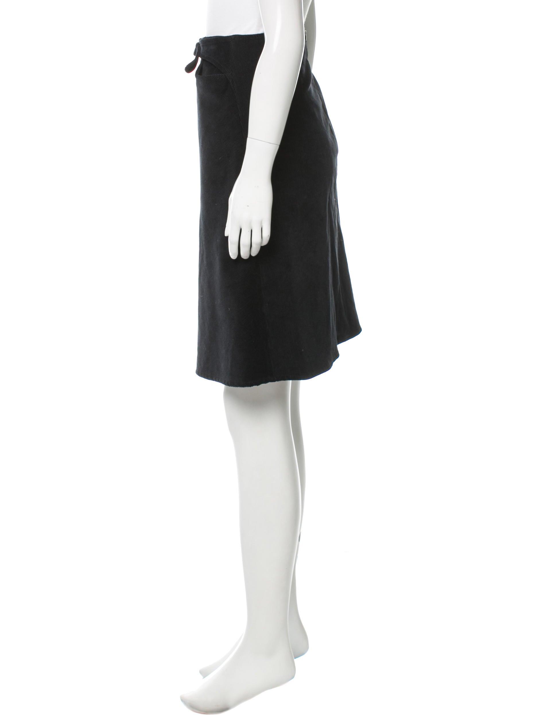 piazza sempione corduroy knee length skirt clothing