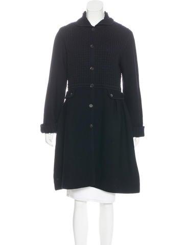 Piazza Sempione Wool Knit Coat None