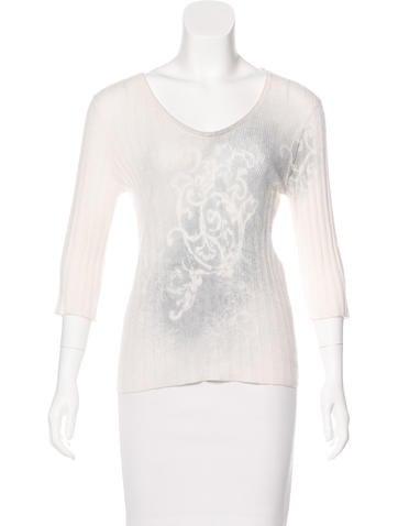 Piazza Sempione Cashmere & Silk-Blend Long Sleeve Top None